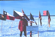 One last pose at the South Pole - Lt. Bortniak never had more hair beforeor since.