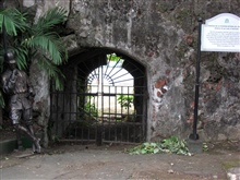 An iron gate in the inner fort of the Intramuros of Manila.