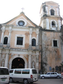 An entrance to San Augustin Church.
