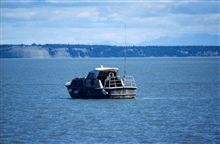 Jensen survey launch lying to in Cook Inlet area.  Launch off of NOAA ShipFAIRWEATHER.