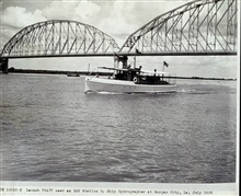 Launch PRATT.PRATT was serving as Radio Acoustic Ranging station.Working in Gulf of Mexico with HYDROGRAPHER.