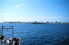 A view of Male, capital of the Maldive Islands as seen from the NOAA Ship RONALD H. BROWN.