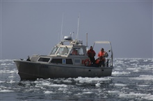 NOAA survey launch north of Point Barrow in the Beaufort Sea.