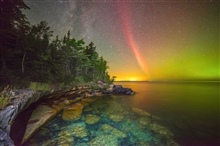 Second place winner. Proton arc over lake Superior.