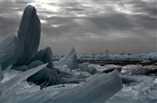 The Lake Erie ice floe created otherworldly conditions at Marblehead LighthouseState Park.
