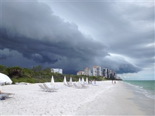 Storm coming in on the Gulf of Mexico.