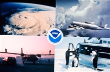 Composite image of various NOAA Aircraft and missions.