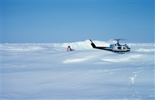 Helicopter operations on the Bering Sea during OuterContinental Shelf Environmental Assessment studies.