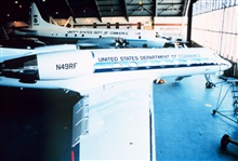 Gulfstream IV and P-3 in NOAA hangar at MacDill AFB