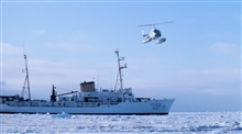 Leased Bell 206 flying in support of seal studies in Bering Sea.