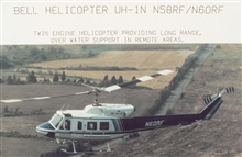 NOAA Bell UH-1N helicopters.  Long range over water support.  Twin enginehelicopters.