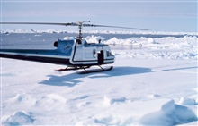 Bell UH-1M supporting OCSEAP scientific studies north of Prudhoe Bay.