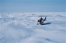 Bell UH-1M supporting through-ice current studies north of Prudhoe Bay forOCSEAP.