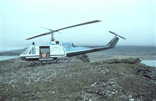 NOAA Bell UH-1M supporting seismic studies on the Alaska Peninsula.