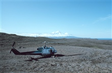 NOAA Bell UH-1M supporting seismic studies on the Alaska Peninsula in thevicinity of Pavlof Volcano.