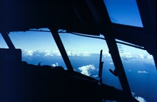 Project Cement #4.  The view from the cockpit of C130 research aircraft.