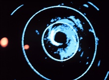 Radar display of Hurricane Fred center.