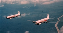 Weather Bureau DC-6's in flight
