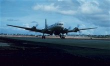 Weather Bureau DC-6 taking off from Seawell