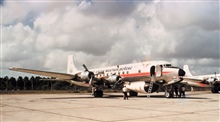 Weather Bureau DC-6 N6539C on the tarmac.