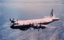 NOAA P-3 N42RF in flight