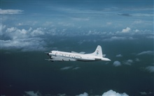 NOAA P-3 N43RF in flight