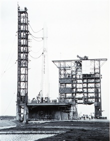 The Delta 37 rocket ready to launch ESSA II