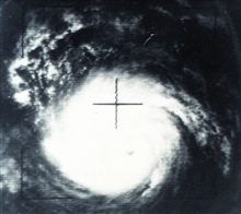Hurricane Betsy as seen from TIROS X - note eye of storm