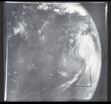 Hurricane Betsy as photographed from TIROS IX