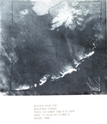 TIROS VII orbit 7680 R/O 7679  image of Alaska and the Aleutian Islands.In: The Best of TIROS,  NASA Goddard Spaceflight Center, 1965.