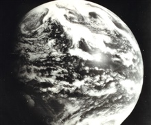 An early image from Applications Technology Satellite 1 (ATS-1).  This satellite was launched into orbit on December 7, 1966 and was the prototype for the GOESseries of satellites as well as for many modern communications satellites.