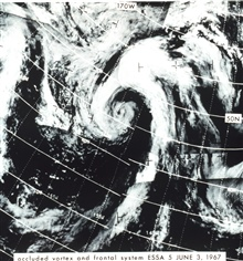Occluded vortex and frontal system as seen from ESSA 5.