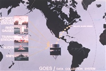 Graphic of GOES data collection system.