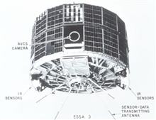 ESSA 3 satellite launched October 2, 1966.  Note side mounting of camera asopposed to bottom mount on earlier TIROS satellites.