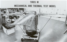 TIROS M mechanical and thermal test model.  TIROS M was known morewidely as ITOS 1.