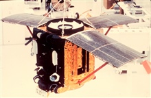 An ITOS satellite being readied for launch.