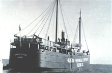 The SANTA FLAVIA - a floating cannery owned by the Alaska Fisheries Co-operativePacking Company.