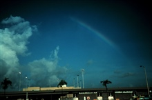 Double rainbowNote reversal of spectrum
