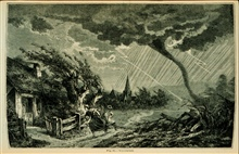 Trombes or whirlwinds ... scattering terror and desolation in their paths...In:  The Atmosphere translated by James Glaisher, 1873From the work of Camille FlammarionFigure 63, p. 347