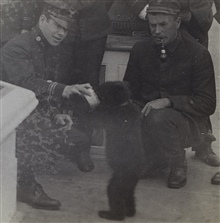 Billy as a cub being fed by Leo O. Colbert.