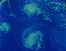Hurricanes Emmy and Frances in the north central Atlantic Ocean