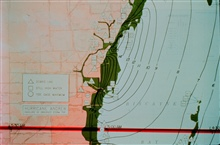 Hurricane Andrew - Storm tide data and contours in feet - green area inundatedAugust 24, 1992 at Dade County, Florida