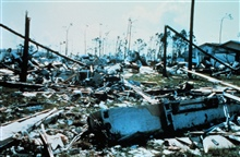 Hurricane Andrew - A  ground view of the devastation in Pinewoods Villa