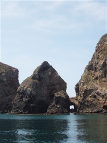 Arch and islets between the various Anacapa islands.