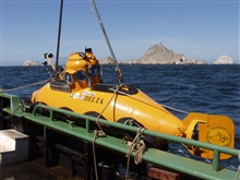 Delta Submersible with south east Farallones island in background