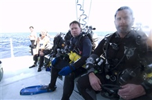 Marine archaeology dive team after return to surface from the shipwreck of theNORTHERN LIGHT.