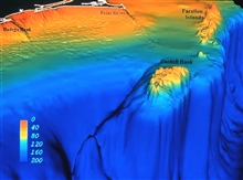 Bottom topography of Cordell Bank and the Gulf of the Farallones