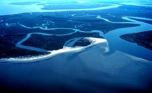 ACE Basin National Estuarine Research Reserve.  Otter Island from the air.