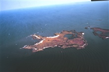 Chesapeake Bay Virginia National Estuarine Research Reserve.The Goodwin Islands as seen from the air.