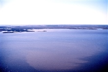 Grand Bay National Estuarine Research Reserve west from Middle Bay. LSU aerial shoreline survey of October 1998.